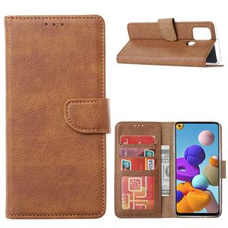 Bookcase Samsung Galaxy A21S hoesje - Bruin