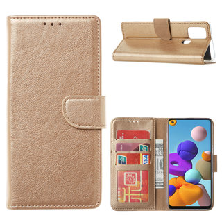 Bookcase Samsung Galaxy A21S hoesje - Goud