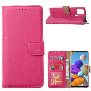 Bookcase Samsung Galaxy A21S hoesje - Roze