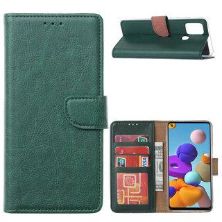 Bookcase Samsung Galaxy A21S hoesje - Smaragdgroen