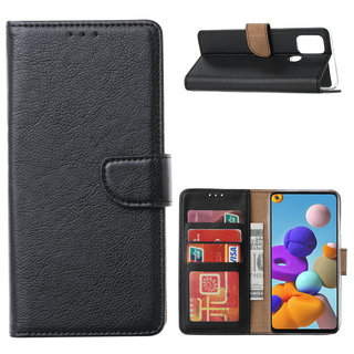 Bookcase Samsung Galaxy A21S hoesje - Zwart
