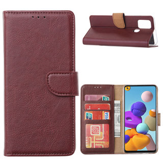 Bookcase Samsung Galaxy A21S hoesje - Bordeauxrood