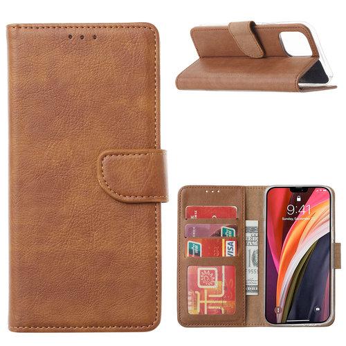 Bookcase Apple iPhone 12 Pro hoesje - Bruin