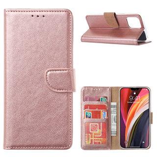 Bookcase Apple iPhone 12 Pro hoesje - Rosé Goud