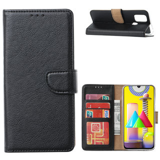 Bookcase Samsung Galaxy M31 hoesje - Zwart