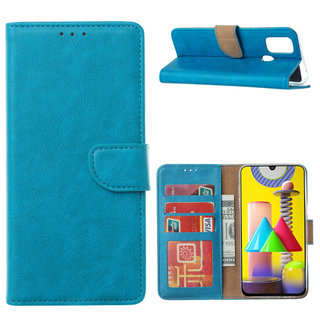 Bookcase Samsung Galaxy M31 hoesje - Blauw