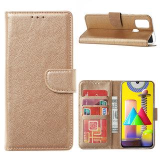 Bookcase Samsung Galaxy M31 hoesje - Goud
