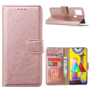 Bookcase Samsung Galaxy M31 hoesje - Rosé Goud