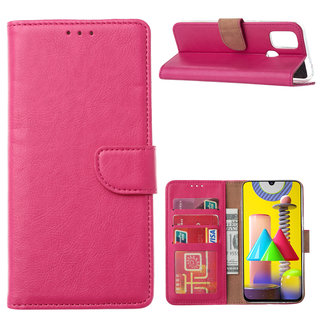 Bookcase Samsung Galaxy M31 hoesje - Roze