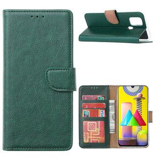 Bookcase Samsung Galaxy M31 hoesje - Smaragdgroen