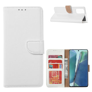 Bookcase Samsung Galaxy Note 20 hoesje - Wit