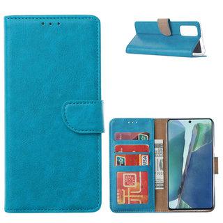 Bookcase Samsung Galaxy Note 20 hoesje - Blauw