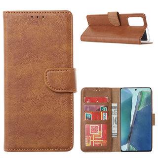 Bookcase Samsung Galaxy Note 20 hoesje - Bruin