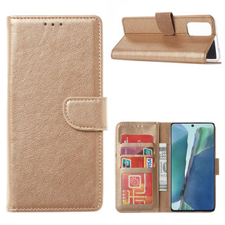 Bookcase Samsung Galaxy Note 20 hoesje - Goud