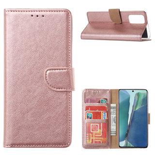 Bookcase Samsung Galaxy Note 20 hoesje - Rosé Goud