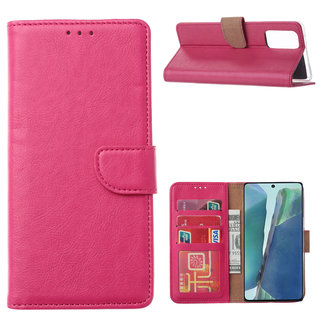 Bookcase Samsung Galaxy Note 20 hoesje - Roze