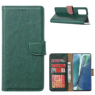 Bookcase Samsung Galaxy Note 20 hoesje - Smaragdgroen