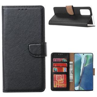 Bookcase Samsung Galaxy Note 20 hoesje - Zwart