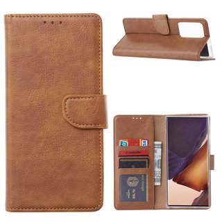 Bookcase Samsung Galaxy Note 20 Ultra hoesje - Bruin