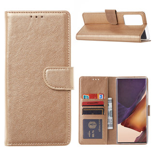 Bookcase Samsung Galaxy Note 20 Ultra hoesje - Goud
