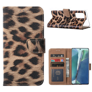 Panter print Bookcase hoesje voor de Samsung Galaxy Note 20