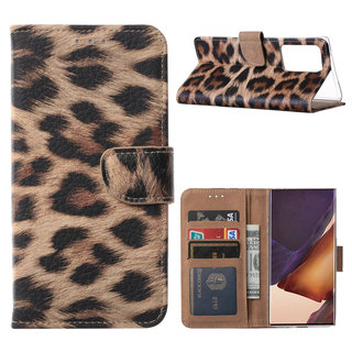 Panter print Bookcase hoesje voor de Samsung Galaxy Note 20 Ultra