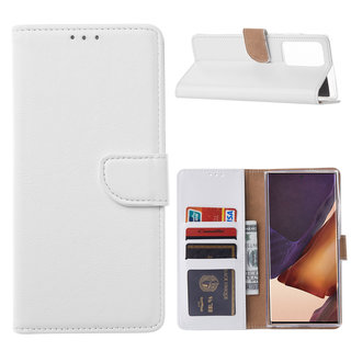 Bookcase Samsung Galaxy Note 20 Ultra hoesje - Wit