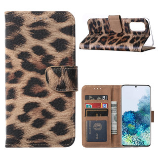 Panter print Bookcase hoesje voor de Samsung Galaxy S20