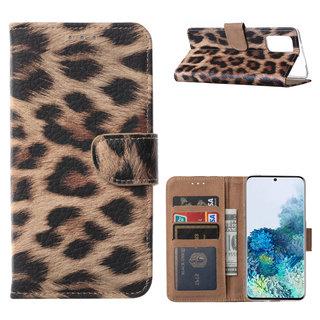 Panter print Bookcase hoesje voor de Samsung Galaxy S20 Plus
