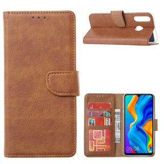 Bookcase Huawei P30 Lite hoesje - Bruin