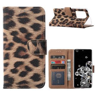 Panter print Bookcase hoesje voor de Samsung Galaxy S20 Ultra