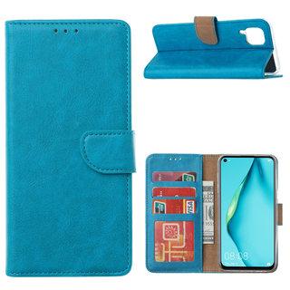 Bookcase Huawei P40 Lite hoesje - Blauw