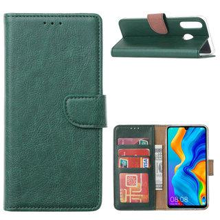 Bookcase Huawei P30 Lite hoesje - Smaragdgroen