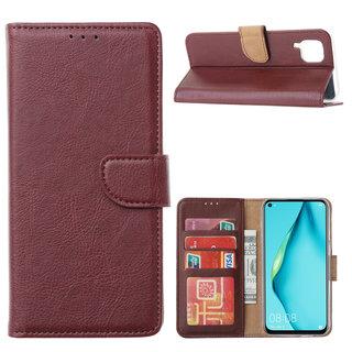 Bookcase Huawei P40 Lite hoesje - Bordeauxrood