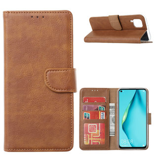 Bookcase Huawei P40 Lite hoesje - Bruin