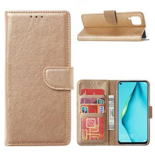 Bookcase Huawei P40 Lite hoesje - Goud