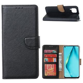 Bookcase Huawei P40 Lite hoesje - Zwart