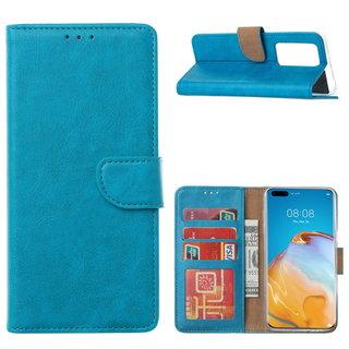 Bookcase Huawei P40 Pro+ Hoesje - Blauw