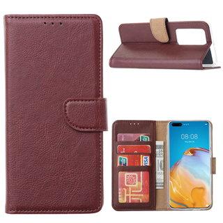 Bookcase Huawei P40 Pro+ Hoesje - Bordeauxrood
