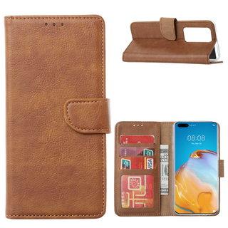 Bookcase Huawei P40 Pro+ Hoesje - Bruin