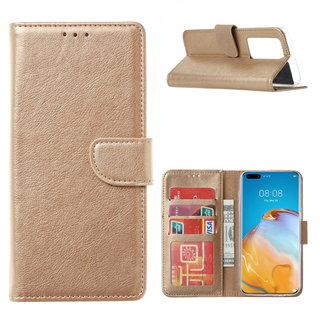 Bookcase Huawei P40 Pro+ Hoesje - Goud