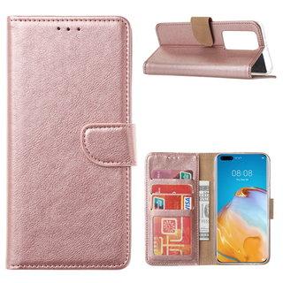 Bookcase Huawei P40 Pro+ Hoesje - Rosé Goud
