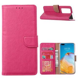 Bookcase Huawei P40 Pro+ Hoesje - Roze