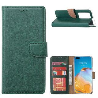 Bookcase Huawei P40 Pro+ Hoesje - Smaragdgroen