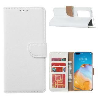 Bookcase Huawei P40 Pro+ Hoesje - Wit