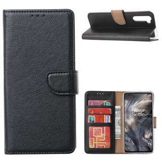 Bookcase OnePlus Nord hoesje - Zwart
