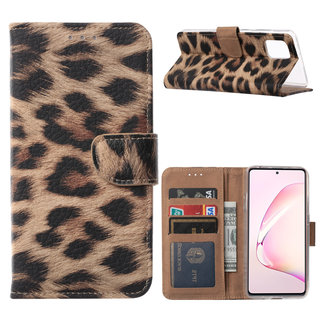 Panter print Bookcase hoesje voor de Samsung Galaxy Note 10 Lite