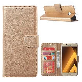 Bookcase Samsung Galaxy A5 2017 hoesje - Goud