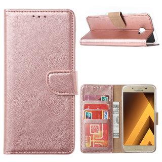 Bookcase Samsung Galaxy A5 2017 hoesje - Rosé Goud
