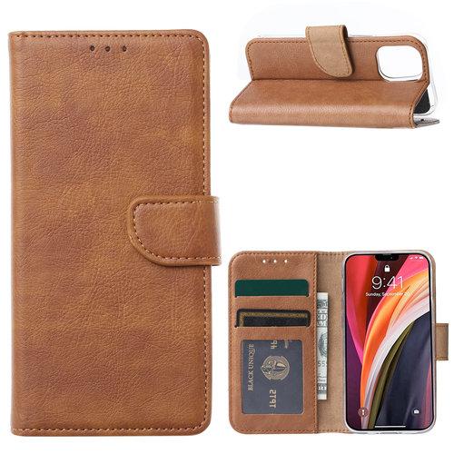 Bookcase Apple iPhone 12 hoesje - Bruin